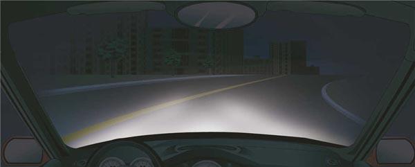机动车夜间灯光使用_在这种急弯道路上行车,应该使用什么灯光?_2020科目一试题